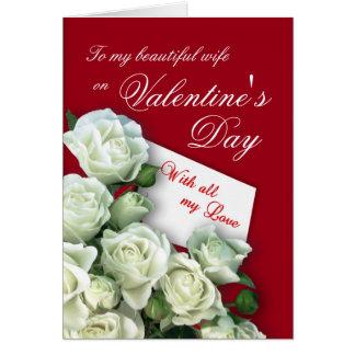 Tarjeta del el día de San Valentín de la esposa