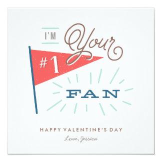 """Tarjeta del el día de San Valentín de la fan #1 Invitación 5.25"""" X 5.25"""""""
