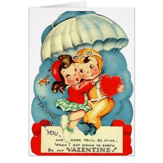 Tarjeta del el día de San Valentín de la fuerza aé