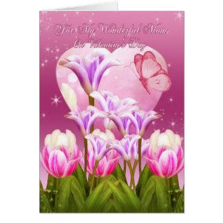 Tarjeta del el día de San Valentín de la mamá - el
