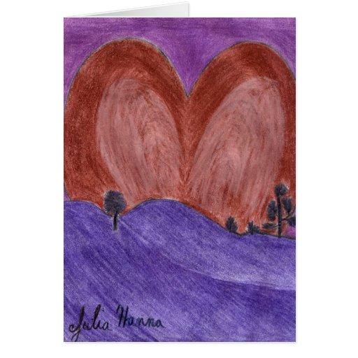 Tarjeta del el día de San Valentín de la puesta de