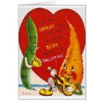 Tarjeta del el día de San Valentín de la zanahoria