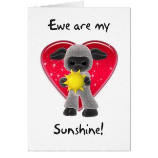 Tarjeta del el día de San Valentín de las ovejas -
