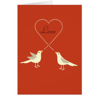 Tarjeta del el día de San Valentín de los Lovebird