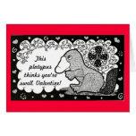 Tarjeta del el día de San Valentín de Platypus de