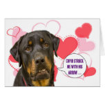 Tarjeta del el día de San Valentín de Rottweiler