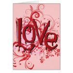 Tarjeta del el día de San Valentín del amor