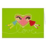 Tarjeta del el día de San Valentín del amor del ch