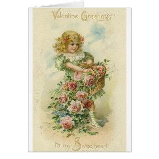 Tarjeta del el día de San Valentín del amor del Vi