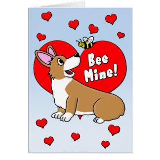 Tarjeta del el día de San Valentín del Corgi de la