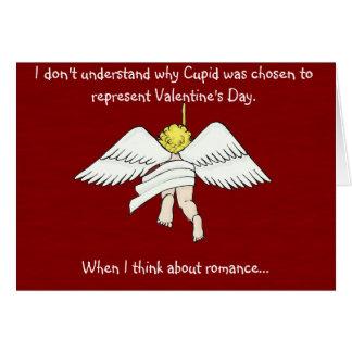 tarjeta del el día de San Valentín del cupid del a