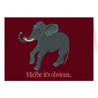 Tarjeta del el día de San Valentín del elefante