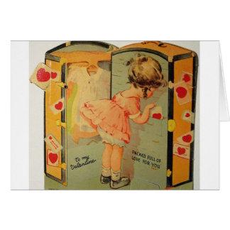 Tarjeta del el día de San Valentín del embalaje de