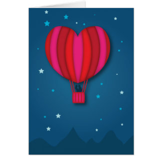 Tarjeta del el día de San Valentín del globo del a