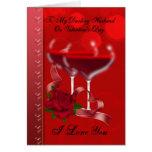 Tarjeta del el día de San Valentín del marido con