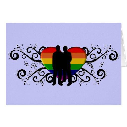 Tarjeta del el día de San Valentín del orgullo gay
