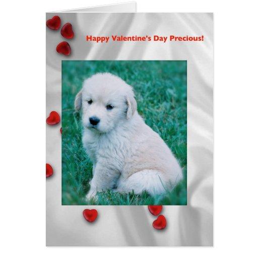 Tarjeta del el día de San Valentín del perrito del