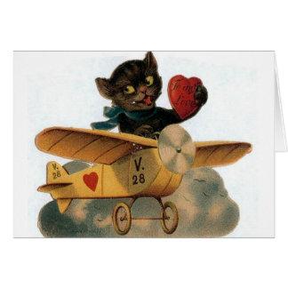 Tarjeta del el día de San Valentín del piloto del