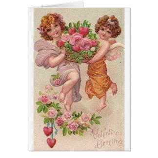 Tarjeta del el día de San Valentín del saludo de l