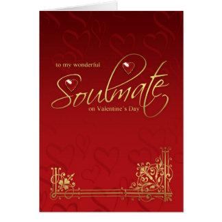 Tarjeta del el día de San Valentín del Soulmate -