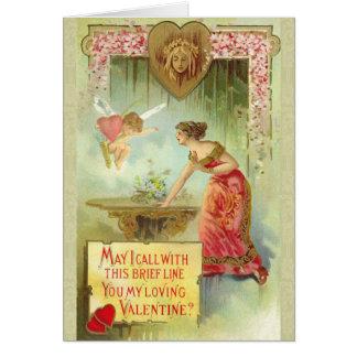 Tarjeta del el día de San Valentín del Victorian
