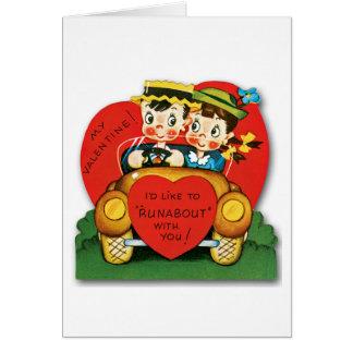 Tarjeta del el día de San Valentín del vintage