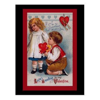 Tarjeta del el día de San Valentín del vintage Postales