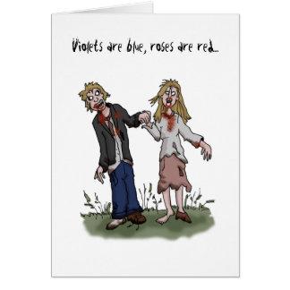 Tarjeta del el día de San Valentín del zombi -