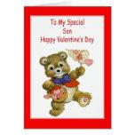 Tarjeta del el día de San Valentín para el hijo