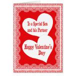 Tarjeta del el día de San Valentín para el hijo y