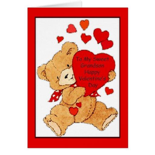 Tarjeta del el día de San Valentín para el nieto