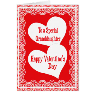 Tarjeta del el día de San Valentín para la nieta