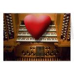Tarjeta del el día de San Valentín para los organi