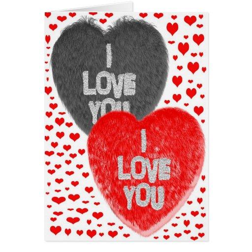 Tarjeta del el día de San Valentín te amo
