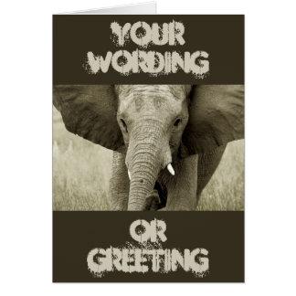 Tarjeta del elefante de Bull del africano (modifiq