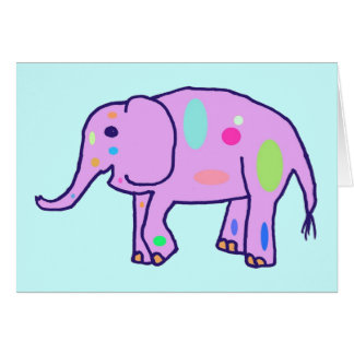 Tarjeta del elefante de Pascua