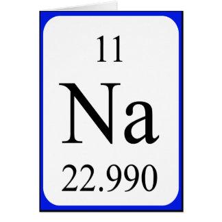 Tarjeta del elemento 11 - blanco del sodio
