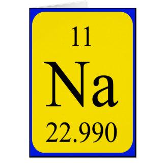 Tarjeta del elemento 11 - sodio