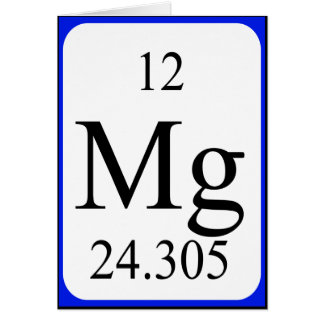 Tarjeta del elemento 12 - blanco del magnesio