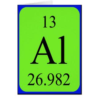 Tarjeta del elemento 13 - aluminio