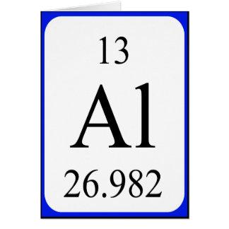 Tarjeta del elemento 13 - blanco de aluminio