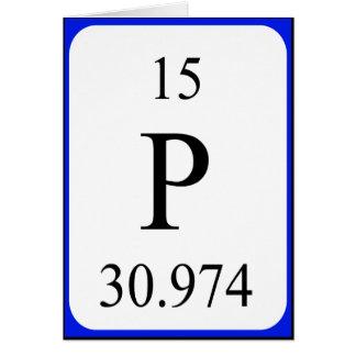 Tarjeta del elemento 15 - blanco del fósforo