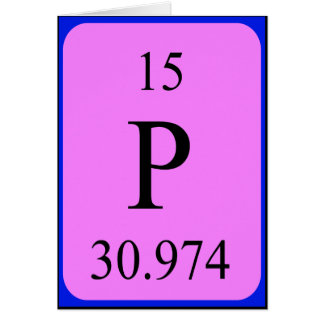 Tarjeta del elemento 15 - fósforo