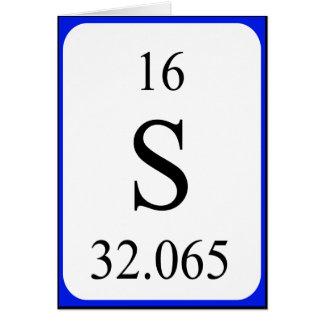 Tarjeta del elemento 16 - blanco del azufre