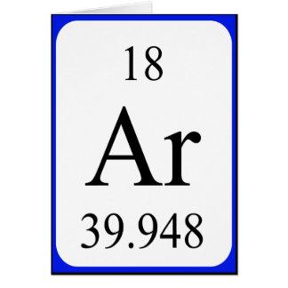 Tarjeta del elemento 18 - argón