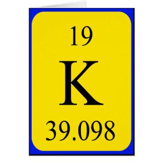 Tarjeta del elemento 19 - potasio