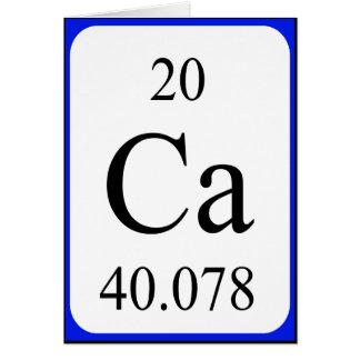 Tarjeta del elemento 20 - blanco del calcio