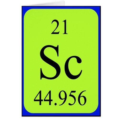Tarjeta del elemento 21 - escandio