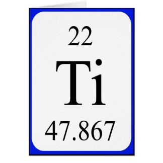 Tarjeta del elemento 22 - blanco Titanium