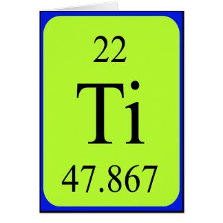 Tarjeta del elemento 22 - titanio
